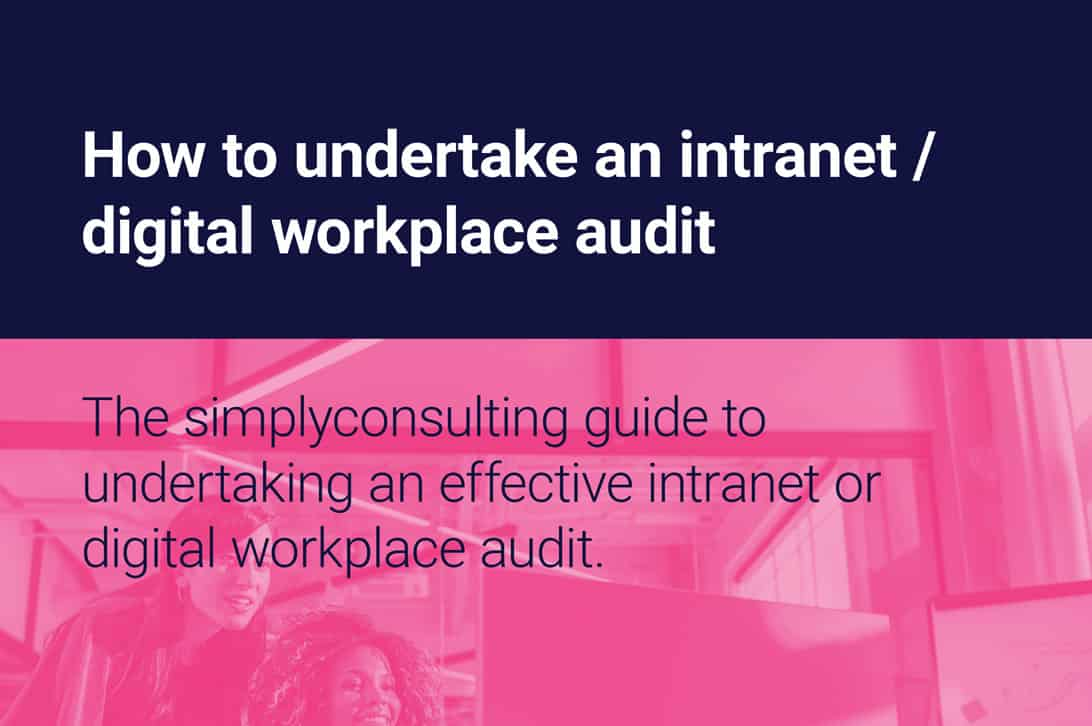 How to undertake an intranet audit