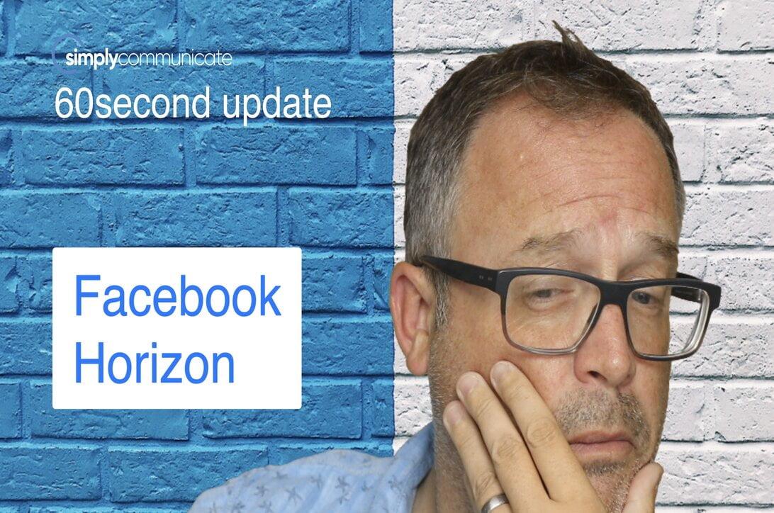 60 sec TechUpdate episode 12: Facebook Horizon