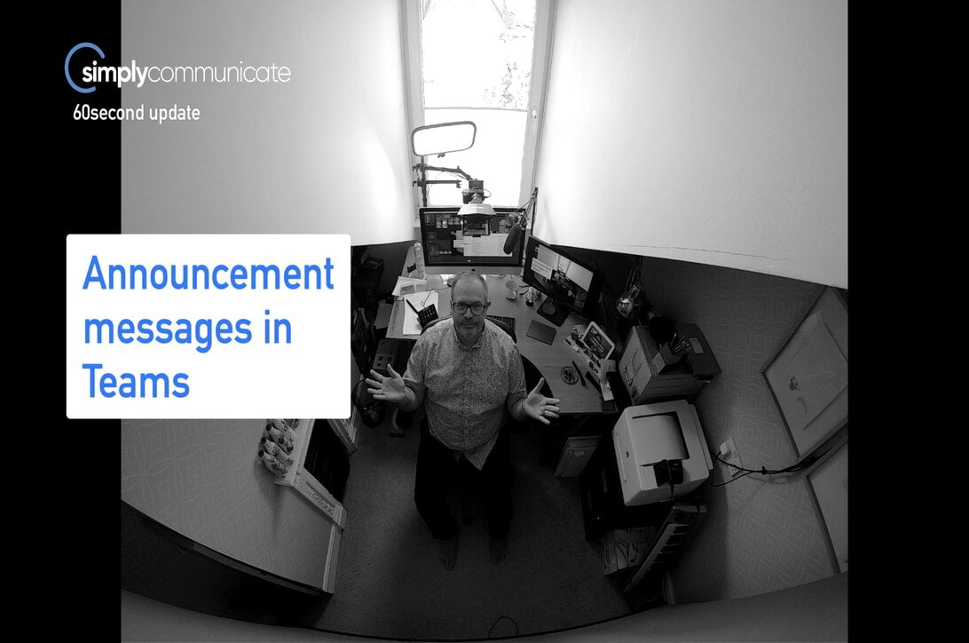 simply Techupdate: announcement messages in MS Teams