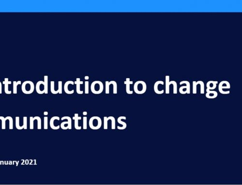 Training resource: an introduction to change communication