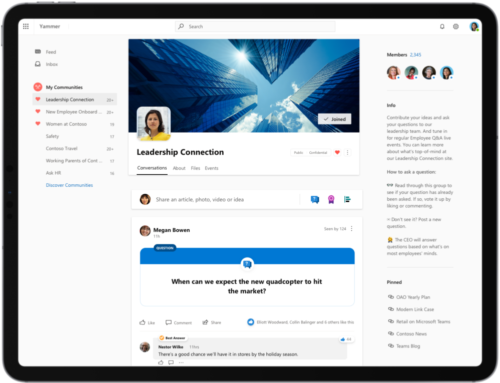 Top tips to drive leadership engagement with Yammer